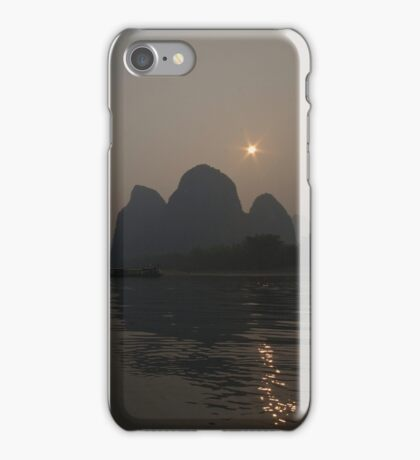 Sun Behind the Mountains iPhone Case/Skin