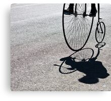Penny-farthing shadow Canvas Print