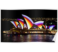 Psychedelic Sails - Sydney Vivid Festival - Sydney Opera House Poster