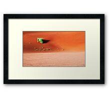Red sand dunes of Namibia Framed Print