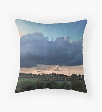 Erie Storm Light over Mulwala Throw Pillow