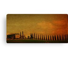 Marching in a Row-Tuscany Canvas Print