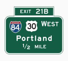 Portland, OR Road Sign, USA Kids Tee