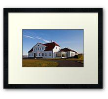 Bessastaðir -  the Presidential Residence Framed Print