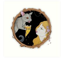 Pierre the pizza loving possum Art Print