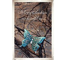 Merry Christmas - Son In Heaven Photographic Print