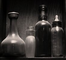 Four Antique Bottles by Jay Reed
