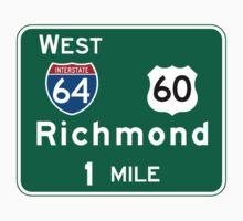 Richmond, VA Road Sign, USA One Piece - Short Sleeve
