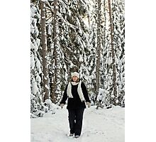 Women in forest Photographic Print
