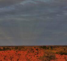 Sun Rays over Uluru Sticker