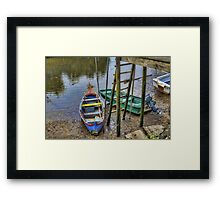 Boats in Tagus Affluent Framed Print