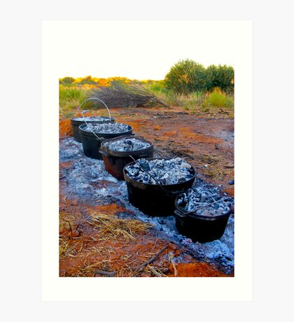 Outback Cooking Art Print