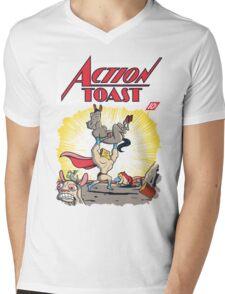 Action Toast Mens V-Neck T-Shirt