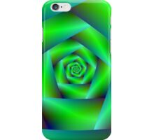 Green Spiral iPhone Case/Skin