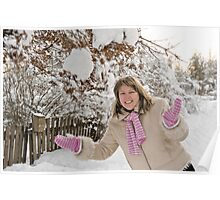 Woman on winter Poster