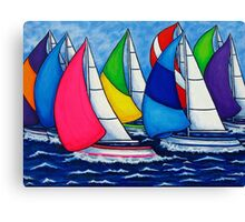Colourful Regatta Canvas Print