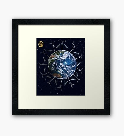 A Cleaner Earth (No more fossil fuels) Framed Print