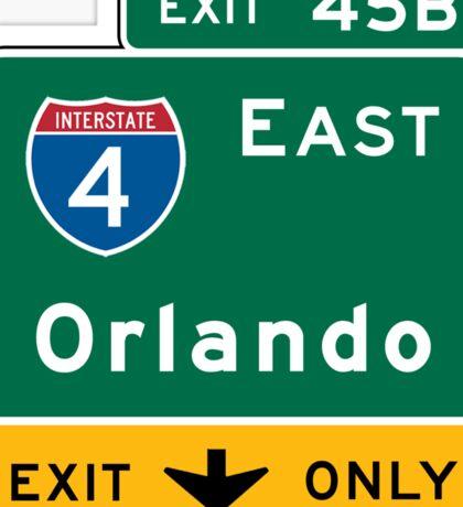 Orlando, FL Road Sign, USA Sticker