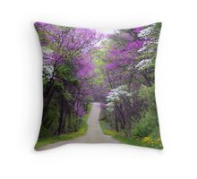 Redbuds in Bloom Throw Pillow