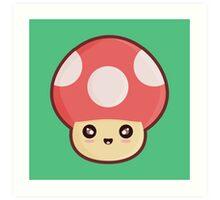 Kawaii Mushroom Art Print