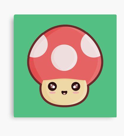 Kawaii Mushroom Canvas Print