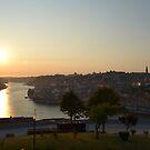 Sunset over Douro River, Porto, Portugal by MONIGABI