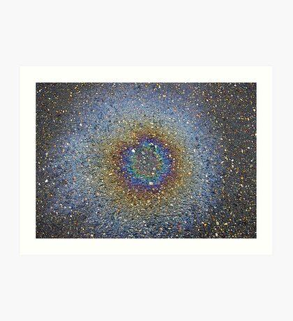 oil drop nebula Art Print