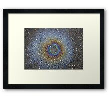oil drop nebula Framed Print