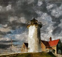 Light House In A Storm by Romanovna Fine Art Prints