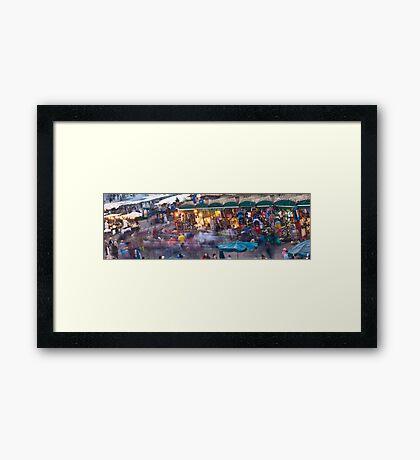Medina Pano Framed Print