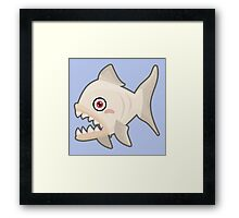 Kawaii Piranha Framed Print