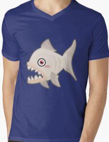 Kawaii Piranha Mens V-Neck T-Shirt