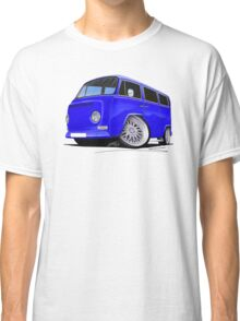 VW Bay-Window Camper Van (D) Blue Classic T-Shirt