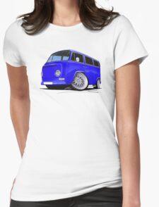VW Bay-Window Camper Van (D) Blue T-Shirt