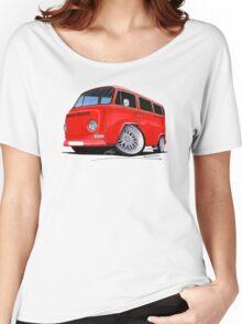 VW Bay-Window Camper Van (D) Red Women's Relaxed Fit T-Shirt