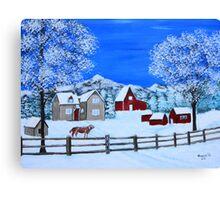 Winter on the Farm Canvas Print