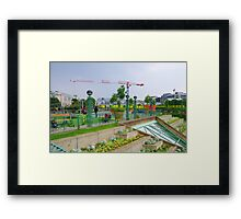 Playground Construction Toys Framed Print