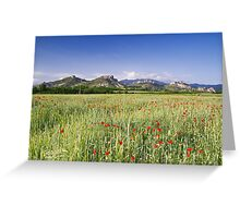 Rock formation close to village Ilindenci Greeting Card