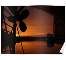 Drydock Sunset Poster