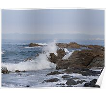 Bay of Banderas - rocks, ocean, waves and a great view Poster