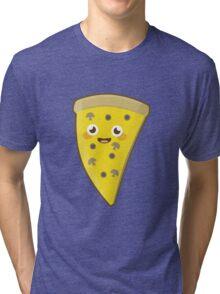 Kawaii Pizza Tri-blend T-Shirt