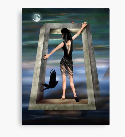Gothic Princess in a Surreal Dreamscape Canvas Print
