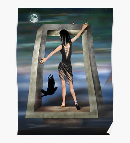 Gothic Princess in a Surreal Dreamscape Poster