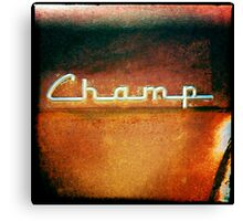 Rusted Champ Canvas Print
