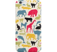 Retro animals. iPhone Case/Skin