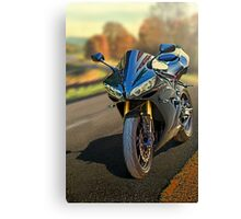 Sport motorcycle in Fall Canvas Print