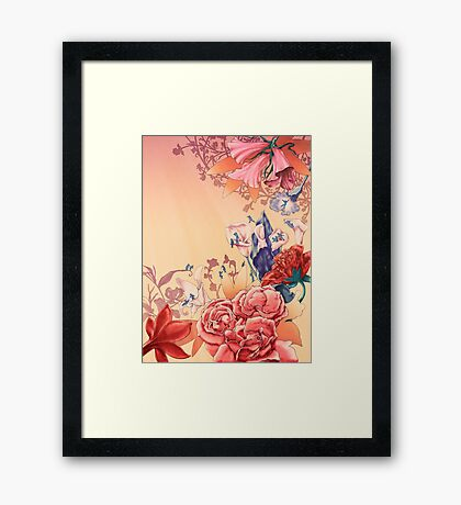 The flowers Framed Print