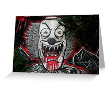 Clown graffiti Greeting Card