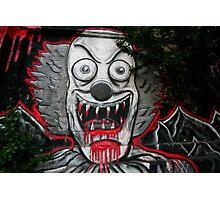 Clown graffiti Photographic Print