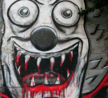 Clown graffiti Sticker